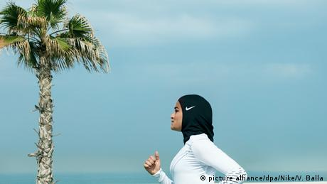 Egyptian athlete Manal Rostom (picture alliance/dpa/Nike/V. Balla)