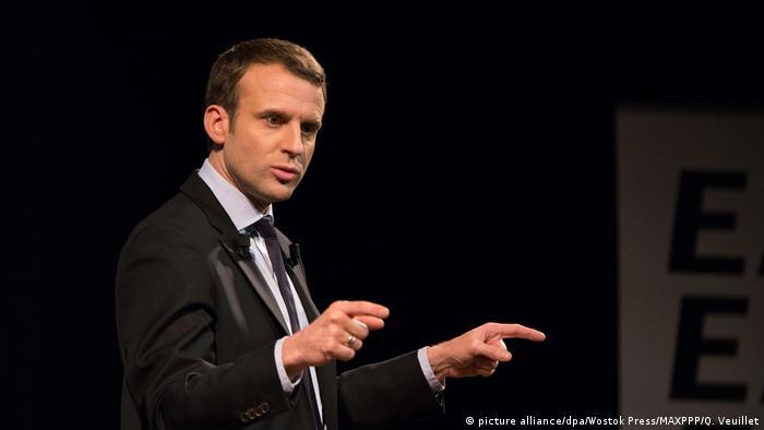 Frankreich Emmanuel Macron (picture alliance/dpa/Wostok Press/MAXPPP/Q. Veuillet)