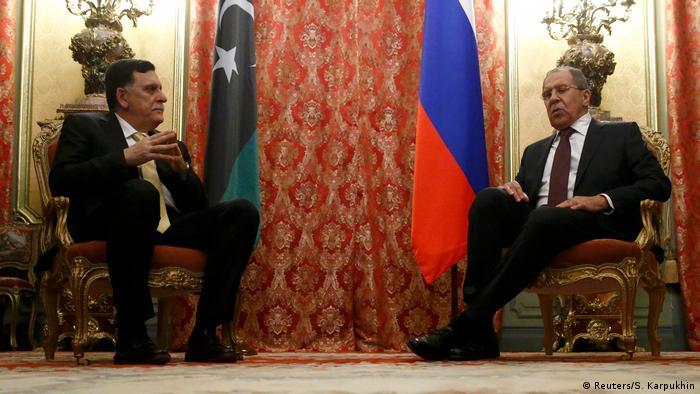 Russland Premierminister Syrien Fayez Seraj & Außenminister Sergei Lawrow
