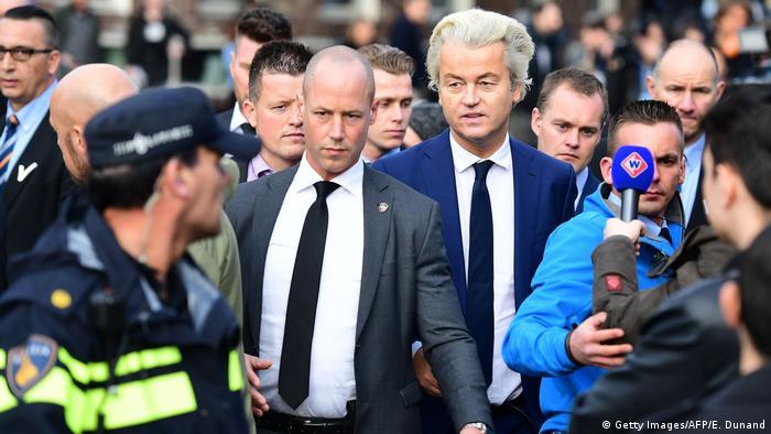 Niederlande Wahl   Geert Wilders, PVV (Getty Images/AFP/E. Dunand)