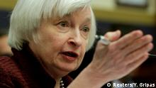 February 15, 2017*** FILE PHOTO - Federal Reserve Chair Janet Yellen delivers semiannual monetary policy testimony during a House Financial Services Committee hearing on Capitol Hill in Washington, U.S. on February 15, 2017. REUTERS/Yuri Gripas/File Photo