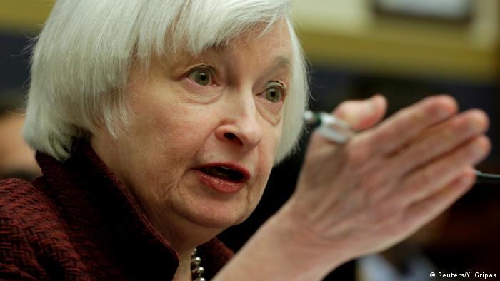 USA Notenbank Fed erhöht erneut leicht den Leitzins | Janet Yellen (Reuters/Y. Gripas)