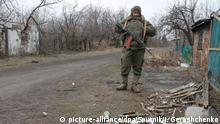 12.03.2017 *** 3047576 03/12/2017 A soldier at Zaitsevo village in the Donetsk Region. (Maximum available quality.) Irina Gerashchenko/Sputnik  
