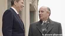 Kalenderblatt Gipfeltreffen USA und UdSSR Gorbatschow und Reagan Genf 1985