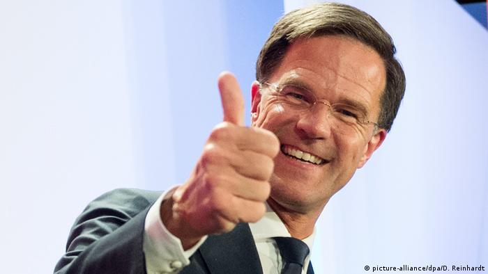 Niederlande Wahlen Mark Rutte in Den Haag