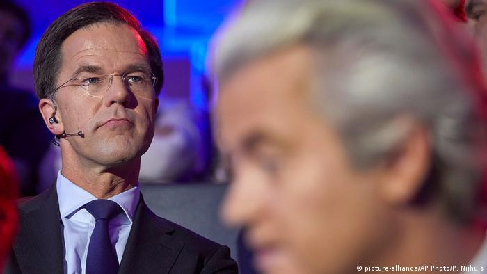 Niederlande Mark Rutte und Geert Wilders in Den Haag