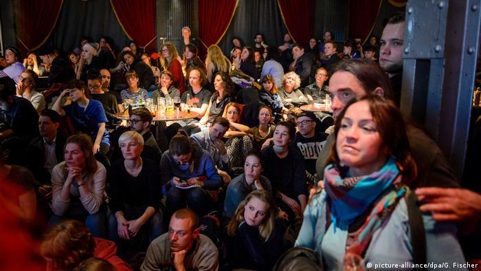 Solidarity event for Deniz Yücel in Berlin