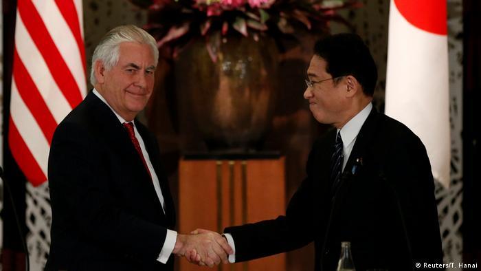 Japan Rex Tillerson und Fumio Kishida