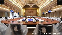 ARCHIV - Im Kurhaus von Baden-Baden (Baden-Württemberg) finden am 13.03.2017 Vorbereitungen für das G20 Treffen der Finanzminister und Notenbankchefs statt. Dieses ist vom 17. Bis zum 18. März 2017.(zu dpa «Alles blickt auf Baden-Baden: Gastgeber für G20-Finanzminister» vom 16.03.2017) Foto: Uli Deck/dpa +++(c) dpa - Bildfunk+++   Verwendung weltweit