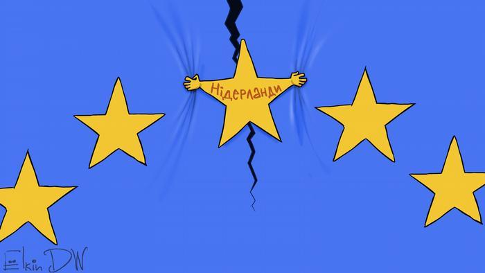 Karikatur von Sergej Elkin