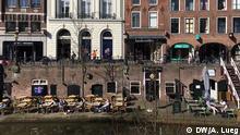 Niederlande Tag nach der Wahl Cafe in Utrecht