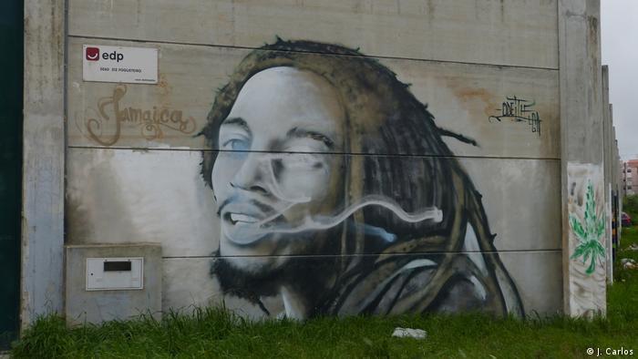 Portugal | Afrikaner in Lissabon | Bob Marley gemalt (J. Carlos)