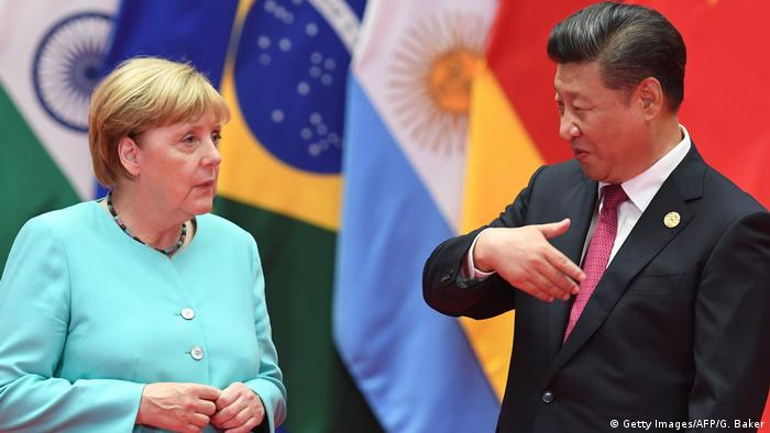 China G20-Gipfel in Hangzhou | Angela Merkel & Xi Jinping (Getty Images/AFP/G. Baker)