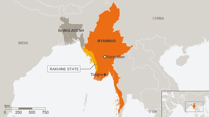 Karte Myanmar Rakhine State ENG
