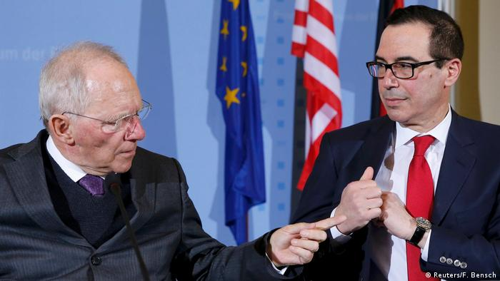 US Finanzminister Mnuchin trifft Schäuble in Berlin (Reuters/F. Bensch)