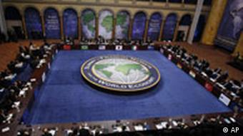 Heads of state participate in the plenary session Summit on Financial Markets and the World Economy