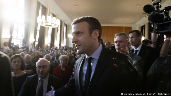 Deutschland Emmanuel Macron in Berlin (picture alliance/AP Photo/M. Schreiber)