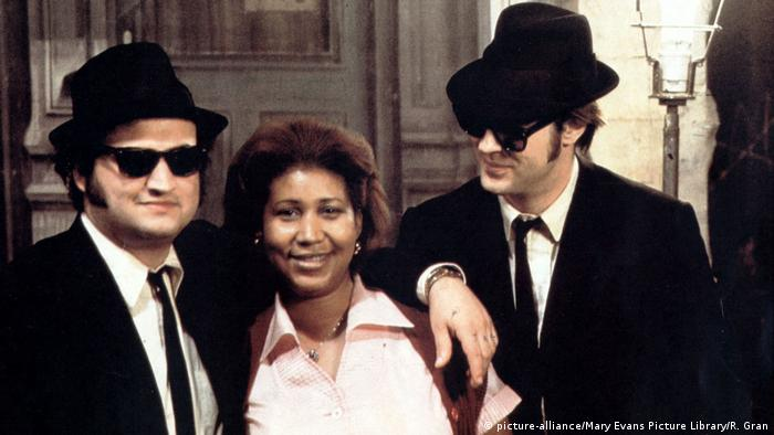 Aretha Franklin y los Blues Brothers en 1980