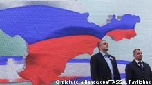 Krim Sergei Aksjonow und Wladimir Konstantinow in Simferopol