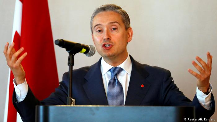 Mexiko Kanadischer Handelsminister Francois-Philippe Champagne in Mexiko-Stadt (Reuters/H. Romero)