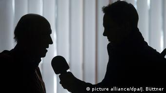 Symbolbild Radiointerview (picture alliance/dpa/J. Büttner)