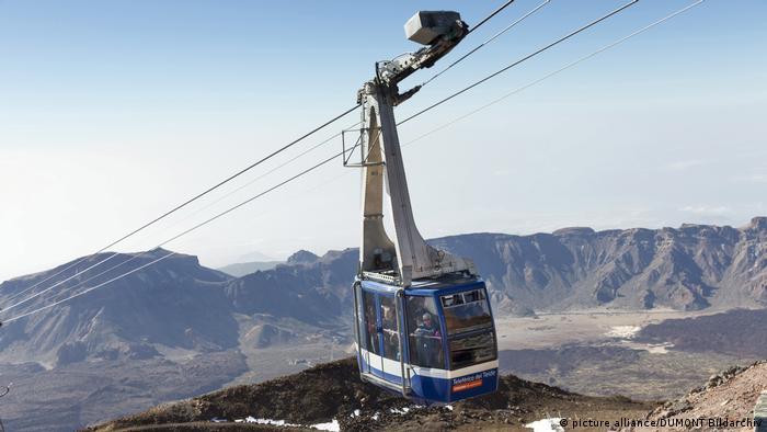 Kanarische Inseln: Teneriffa Seilbahn am Pico del Teide