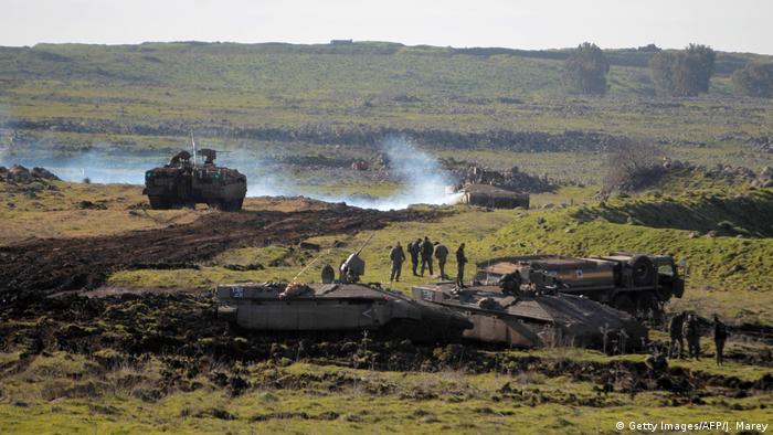 Israel Militärmanöver auf den Golan Höhen (Getty Images/AFP/J. Marey)
