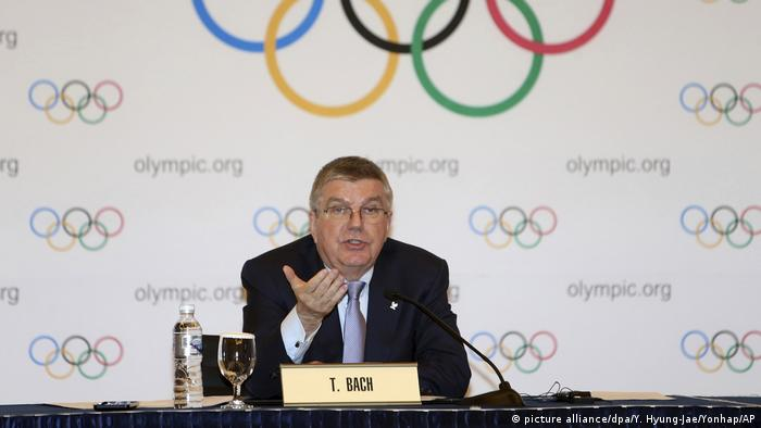 IOC-Präsident Thomas Bach (picture alliance/dpa/Y. Hyung-Jae/Yonhap/AP)