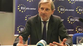 EU - Erweiterungskommissar Johannes Hahn