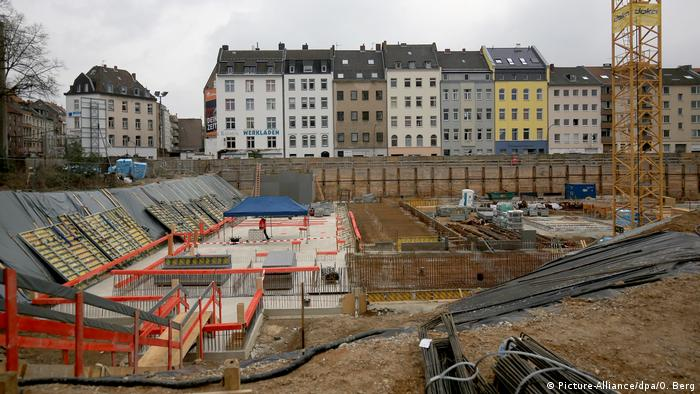 Construction site for the new Cologne archive (Picture-Alliance/dpa/O. Berg)