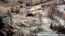 The collapsed Cologne city archive on March 3, 2009 (Picture-Alliance/dpa/O. Berg)