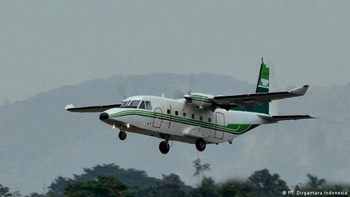 Flugzeug NC212 des staatlichen Unternehmens PT. Dirgantara Indonesia (PT. Dirgantara Indonesia)