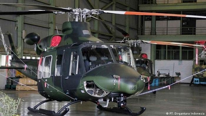 Heleikopter BELL 412EP des staatlichen Unternehmens PT. Dirgantara Indonesia (PT. Dirgantara Indonesia)