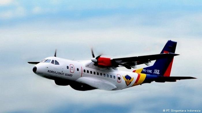 Flugzeug CN235 Korea Coast Guard des staatlichen Unternehmens PT. Dirgantara Indonesia (PT. Dirgantara Indonesia)