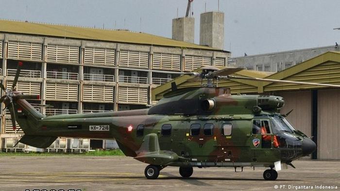Heleikopter H215 des staatlichen Unternehmens PT. Dirgantara Indonesia (PT. Dirgantara Indonesia)