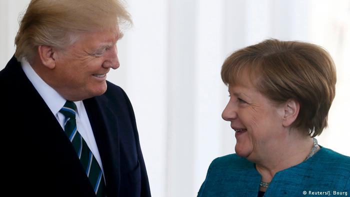 USA Merkel und Trump (Reuters/J. Bourg)