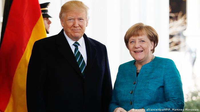 USA Merkel und Trump (picture alliance/dpa/AP/P. Martinez Monsivais)