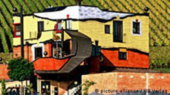Ein Haus des Künstlers Friedrich Hundertwasser im Weinbarg