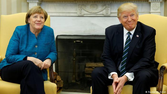 USA Merkel und Trump