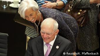 Deutschland | G20 Finanzminister Gipfel in Baden-Baden | Wolfgang Schäuble und Christine Lagarde (Reuters/K. Pfaffenbach)