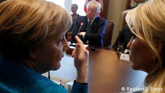USA Angela Merkel und Ivanka Trump