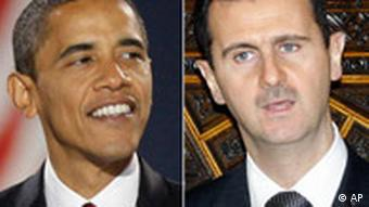 Barack Obama and Bashar Assad