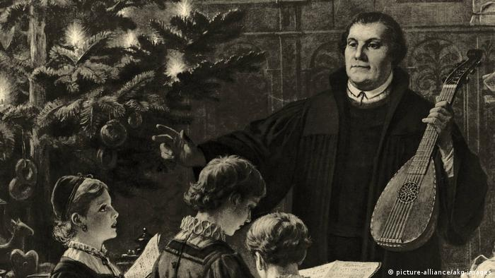 500 years Reformation:A painting by Bernard Plockhorst depicts Martin Luther playing music with his family on Christmas Eve
