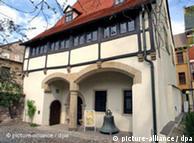 Casa donde nació Martin Lutero, en la ahora llamada Lutherstraße 16, en la localidad de Eisleben, Sajonia Anhalt.