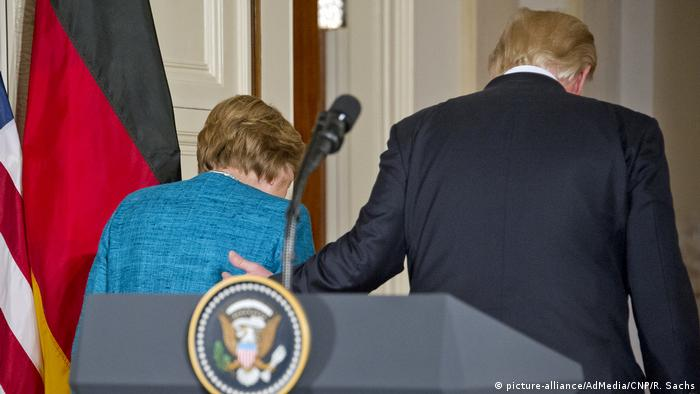 USA - Donald Trump trifft Angela Merkel (picture-alliance/AdMedia/CNP/R. Sachs)