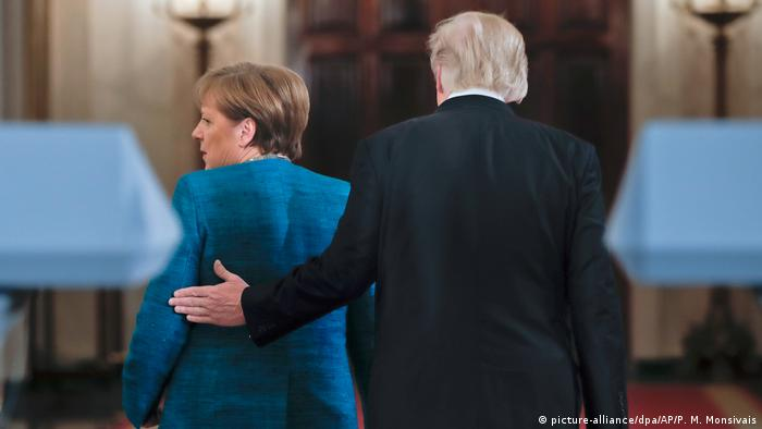 USA - Donald Trump trifft Angela Merkel (picture-alliance/dpa/AP/P. M. Monsivais)