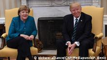 USA - Donald Trump trifft Angela Merkel