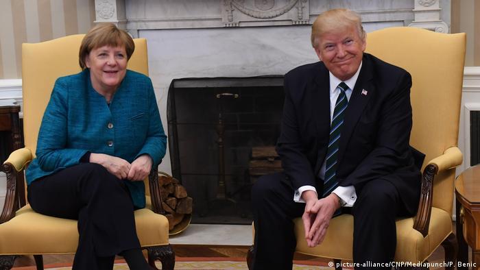 Ангела Меркель и Дональд Трамп в ходе визита канцлера ФРГ в Вашингтон 17 марта