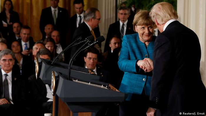 USA - Donald Trump trifft Angela Merkel (Reuters/J. Ernst)