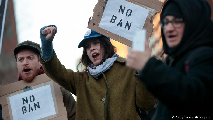 USA New York - Proteste gegen Trumps Einreisestopp (Getty Images/D. Angerer)